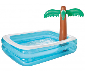 Happy People inflatable pool Palm tree 200 x 150 cm blue
