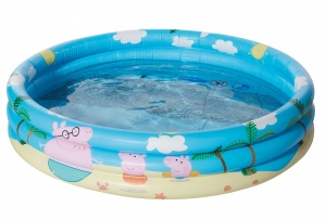 Happy People aufblasbares Becken Peppa Pig100 x 23 cm blau