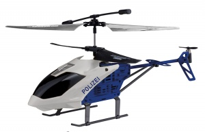Happy People RC Air Control politiehelikopter 20 cm wit/blauw