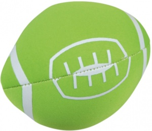 Happy People Splashbal football 13 cm foam groen