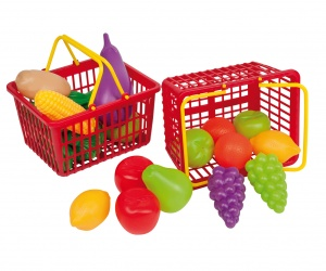 Happy People shopping basket 15 cm 11-part fruit and vegetables