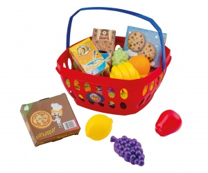 Happy People Shopping basket with fruit and boxes 11-piece