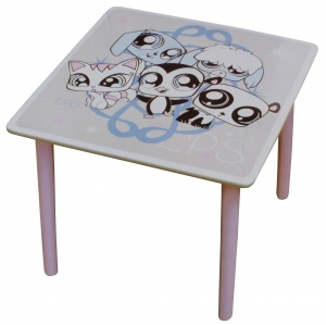 Hasbro Littlest Pet Shop tafel 50 cm roze/wit