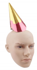 Haza Original party hat gold/red 21,5 cm