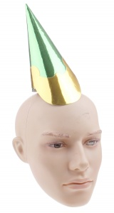 Haza Original party hat green/gold 21,5 cm
