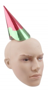 Haza Original party hat red/green 21,5 cm
