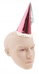 Haza Original party hat red/white/green 17 cm