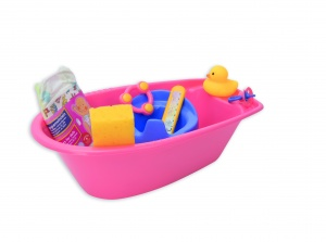 Heless doll bath pink with accessories 40,5 cm