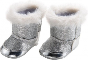 Heless doll's shoes boots 30-34 cm girls polyester silver