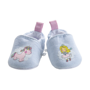 Heless doll's shoes unicorn 30-34 cm girls polyester light blue