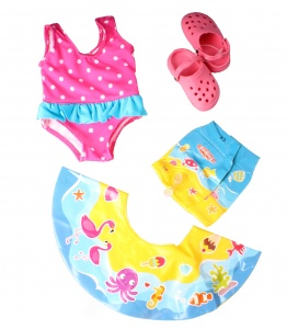 Heless Swimset dolls pink, blue 35-45 cm