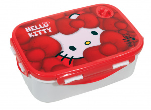 Carbotex lunchbox Hello Kitty meisjes 2-delig rood/wit