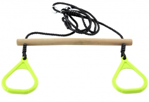 Hörby Bruk ringtrapeze hout 150 cm bruin/lime