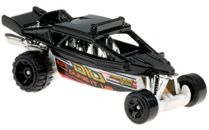 Hot Wheels auto jongens Dune It Up 7 cm staal zwart/zilver