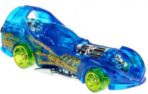 Hot Wheels auto Power Rocket jongens 7 cm staal blauw/groen