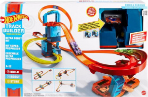 Hot Wheels booster set Track Builder junior 127 cm bleu 22-pièces
