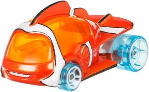 Hot Wheels Disney auto Nemo 5,5 cm oranje