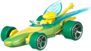 Hot Wheels Disney auto Tinkerbel 6 cm groen