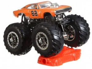 Hot Wheels monstertruck Dodge Charger 9 cm oranje