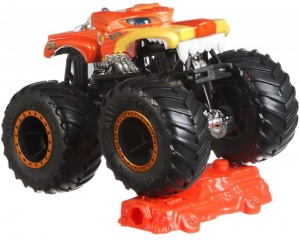 Hot Wheels monstertruck Hotweller 9 cm oranje/geel