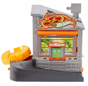 Hot Wheels pizzaria City Downtown 17 cm jongens grijs