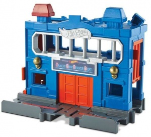 Hot Wheels politiebureau City Downtown 17 cm jongens blauw