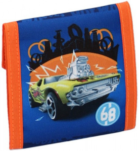Hot Wheels brieftasche Jungen 10,5 x 9 cm Polyester blau/orange