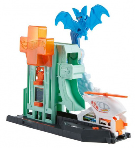 Hot Wheels racebaandeel Bat Hospital jongens turquoise 2-delig