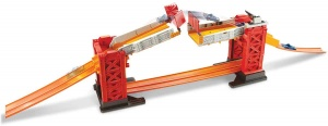 Hot Wheels Racebaanset Track Builder Stuntbrug rood 70-delig