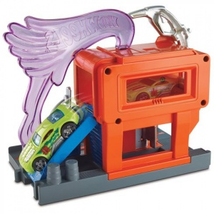 Hot Wheels tankstation-City Downtown 17 cm rood/paars