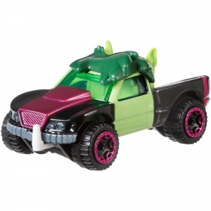 Hot Wheels Teen Titans Go! auto Beast Boy 6 cm zwart/groen