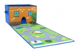 House of Kids traffic carpet city play and store 38 x 26 cm 24 L