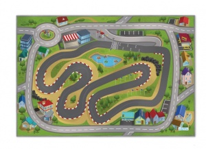 House of Kids verkeerskleed city racing - Speed Way 100 x 150 cm