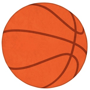 ACHOKA tapis basketball 75 cm orange