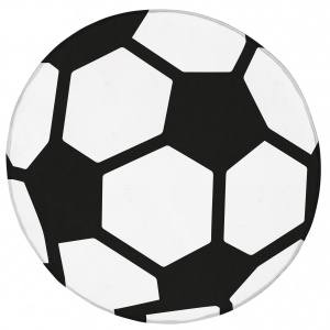 House of Kids tapis de football 75 cm blanc/noir