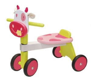 I'm Toy Loopfiets Koe Girls Pink
