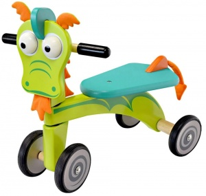 I'm Toy Loopfiets Draak Junior Green/Blue