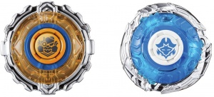 Infinity Nado Twirling gesetzt vs. Shark Mecha 5.5cm orange / blau