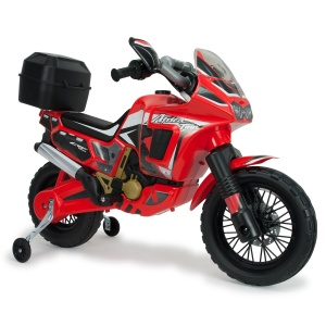 Injusa battery vehicle motorbike Honda Africa 6V 100 cm red