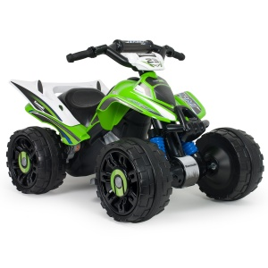 Injusa battery vehicle quad Kawasaki 12V 76 cm green