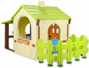 Injusa play house Country House cream / green 198 cm