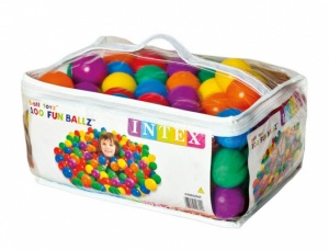 Intex Fun Ballz 100 pieces 6.5 cm multicolor