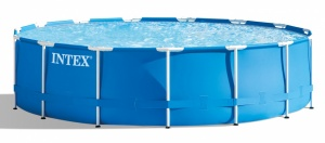 Intex Pool design Metal Frame Pool Set 732 x 132 cm blue