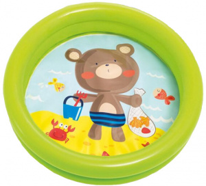 Intex aufblasbarer Pool-Bär Junior 61 x 15 cm Vinylgrün