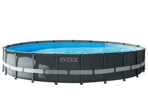 Intex swimming pool with accessories Ultra XTR frame 610 x 122 cm anthracite