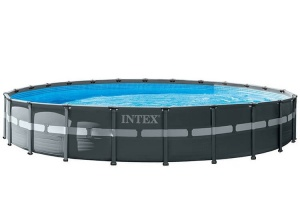 Intex surface-mounted pool with accessories Ultra XTR frame 732 x 132 cm anthracite