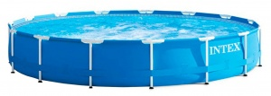 Intex pool Metal Frame Ø457 x 84 cm blue