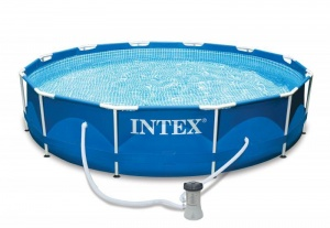 Intex outdoor pool steel round 305 cm blue