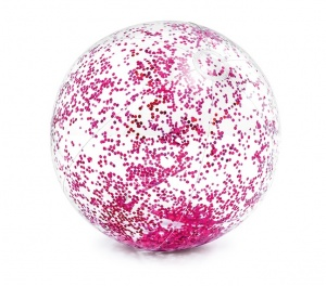 Intex beach ball Glitter71 cm transparent purple