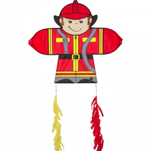 Invento kite Skymate Fireman 71 x 64 cm Polyester rot/gelb